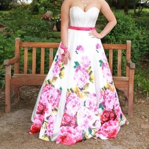 Tiffany Floral Ball Gown
